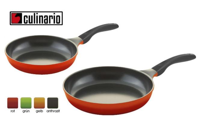 2er Set culinario Bratpfannen Ø 24 und 28 cm, antihaft und induktionsgeeignet, Farbe wählbar