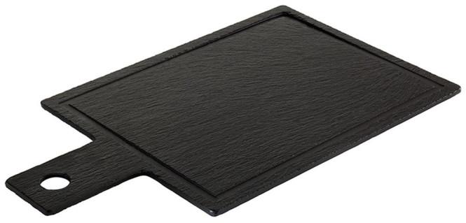 APS 2 Set Servier-Naturschieferplatte m. Saftrinne, 26x20 cm
