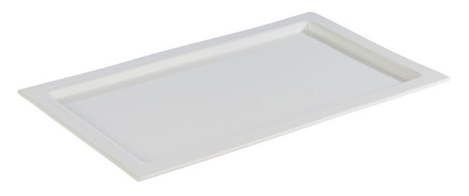 APS GN 1/1 Tablett -FRAMES- aus Porzellan, 53 x 32,5 cm, Höhe 2 cm, hitzebeständig bis 220°C, Serviertablett, Servierplatte