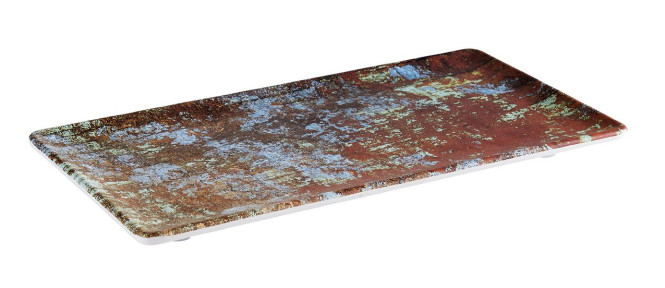APS GN 1/3 Tablett -AQUARIS- aus Melamin, 32,5 x 17,6 cm, Höhe 2 cm Farbe: Kupfer, gebürstet