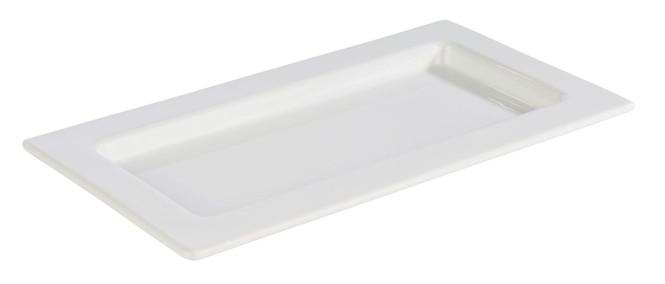 APS GN 1/3 Tablett -FRAMES- aus Porzellan, 32,5 x 17,6 cm, Höhe 2 cm, hitzebeständig bis 220°C, Serviertablett, Servierplatte