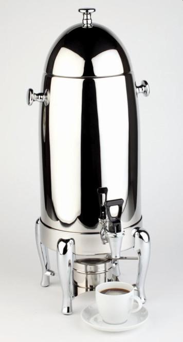 APS Kaffeedispenser -ROYAL- ca. 28 x 28 cm, Höhe 64 cm 12 L, 18/8 Edelstahl poliert, für Kaffee, Tee oder andere warme Getränke