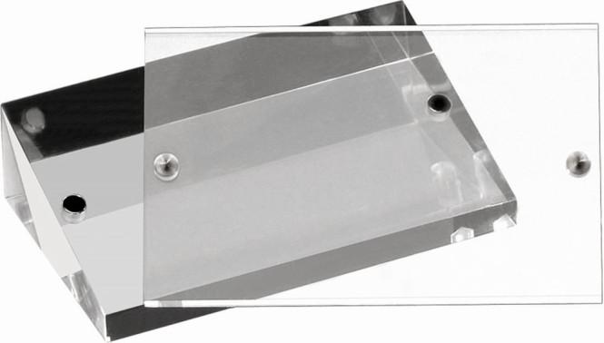 APS Kartenhalter, 2er Set, Acryl, je 9 x 3 x 5,5 cm