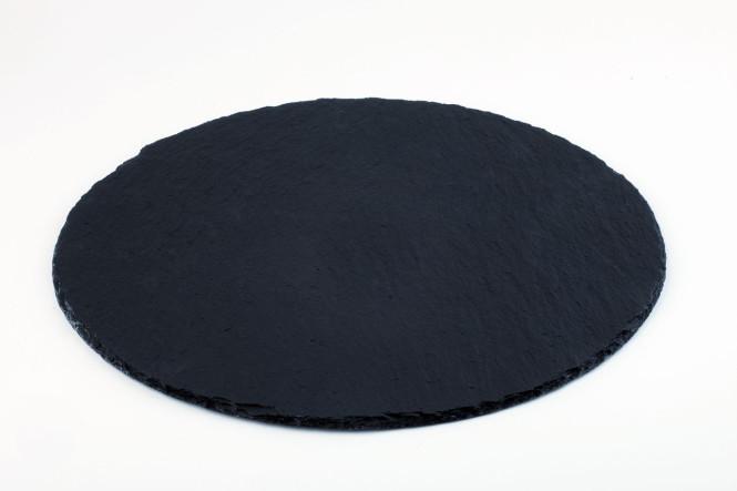APS Naturschieferplatte ca. Durchmesser 38 cm rund Materialstärke 4-7mm