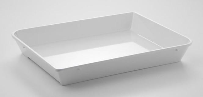 APS Schale -SYSTEM-THEKE-, Melamin, weiß, 1,3 Liter, 29 x 22 cm, H: 4 cm