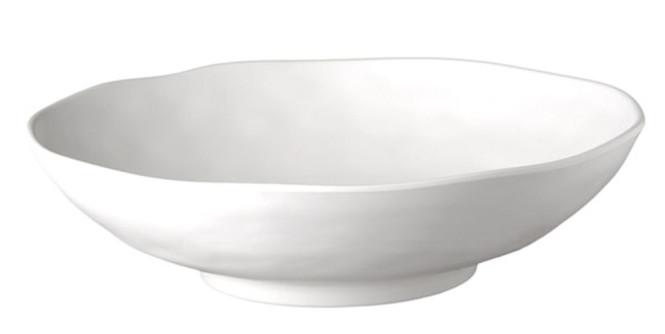 APS Schale -ZEN- Durchmesser 31 cm, H: 8,5 cm Melamin, schwarz, Steinoptik spülmaschinenfest nicht mikrowellengeeignet