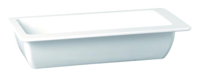 APS Schüssel -APART- ca. 40 x 20 cm, Höhe 6,5 cm Melamin weiß, ca. 2,4 l 1A Qualität, original Melamin spülmaschinenfest nicht mikrowellengeeignet