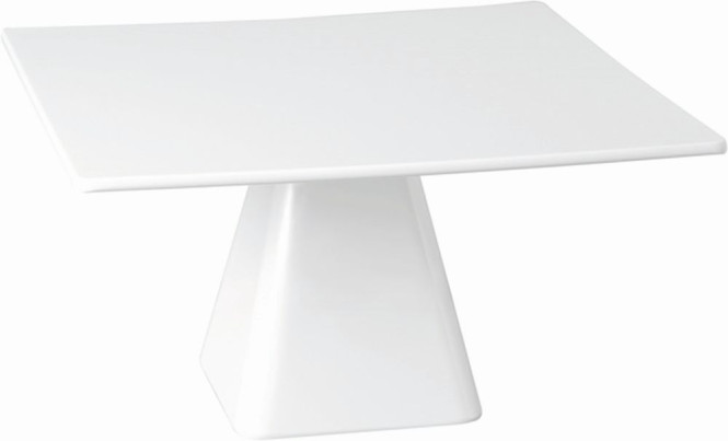 APS Servierplatte -CASUAL- ca. 31 x 31 cm, Höhe 16 cm Melamin, weiß 1A Qualität, original Melamin spülmaschinenfest nicht mikrowellengeeignet