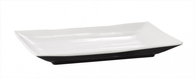 APS Tablett -HALFTONE-, Melamin, 34,5 x 21,5 cm, H: 3 cm