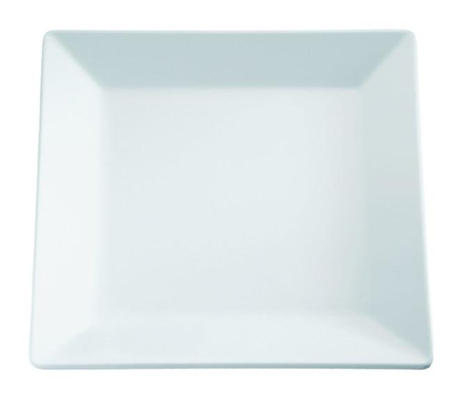 APS Tablett -PURE- ca. 21 x 21 cm, Höhe 2,5 cm Melamin, weiß 1A Qualität, original Melamin spülmaschinenfest nicht mikrowellengeeignet