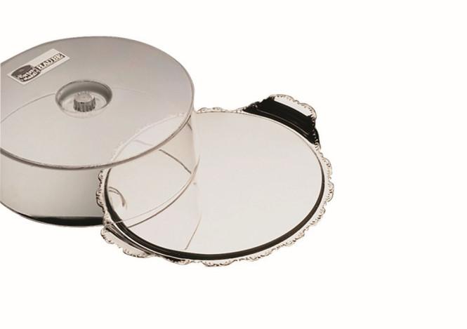 APS Tortenplatte 2-tlg. BAROCK, Edelstahl, d = 32 cm, mit stabiler