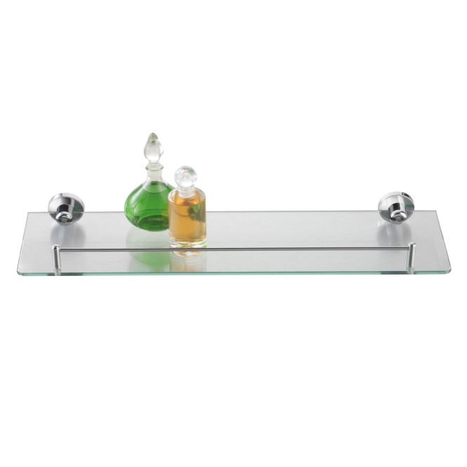 AXENTIA Badablage mit Glasboden und Reling 50 x 14 cm Vorgänger 280560