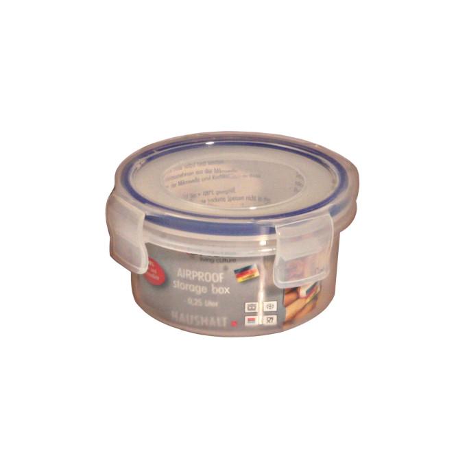 AXENTIA Airproof Vorratsdose Aufbewahrungsbox, Frischhaltedose, Multifunktionsbox transparent, 0,25 Liter Ø 10 cm, Höhe 6 cm Anzahl: 1 Stück