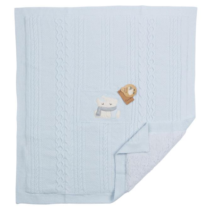 Cassiope Baby und Kinder Decke im Lammwoll Look, 85 x 95 cm, flauschig weich, pflegeleicht und mit 30 Grad Celsius waschbar, in blau blau