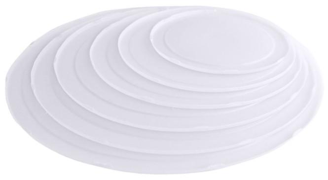 Contacto Deckel weiß passend zur Rührschüssel 1340 aus transparent-weißem Polypropylen, Durchmesser 32 cm