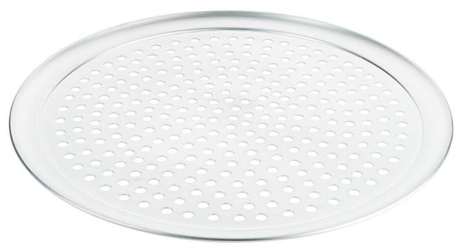 Contacto Gelochtes Pizzablech 41 cm, Aluminium, 10 mm Lochdurchmesser, Backblech