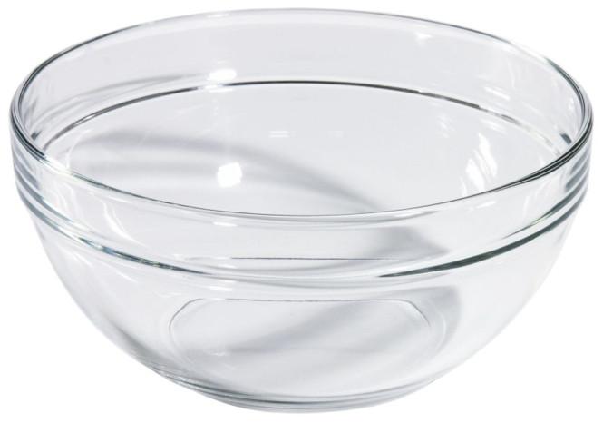 Contacto Glasschale aus gehärtetem Glas, Durchmesser innen 9,5 cm