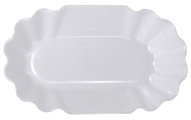 Contacto Pommesschale aus Polypropylen zum stilechten Servieren von Pommes frites, Länge 19,5 cm Breite 11,5 cm Höhe 3,5 cm Farbe rot