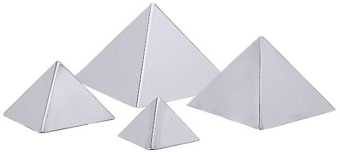 Contacto Pyramide, 12 x 12 cm Flächenmaß, 0,4 l, aus Edelstahl