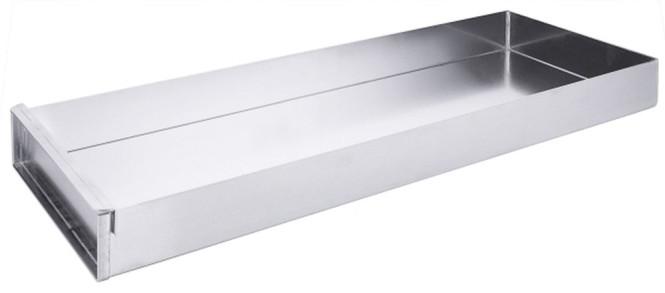 Contacto Schnittkuchenblech 58x20x5 cm Aluminium, mit Vorsatzschiene
