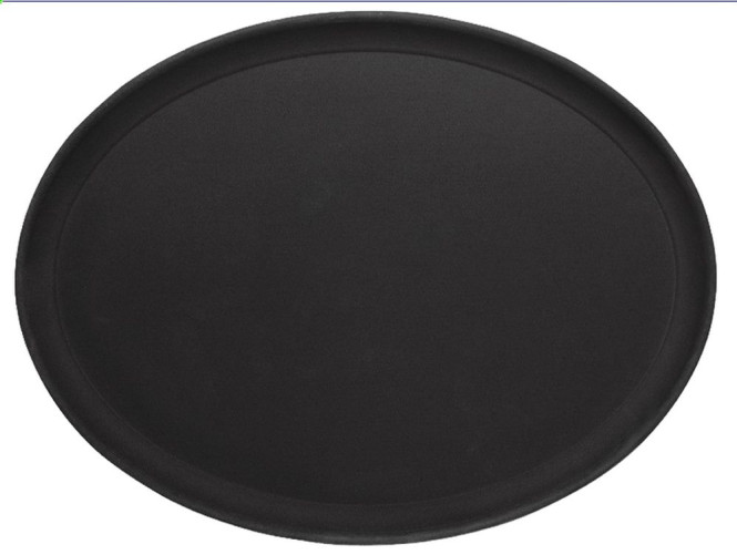 Contacto Tablett oval, rutschhemmend 26,5 x 20 cm, schwarz