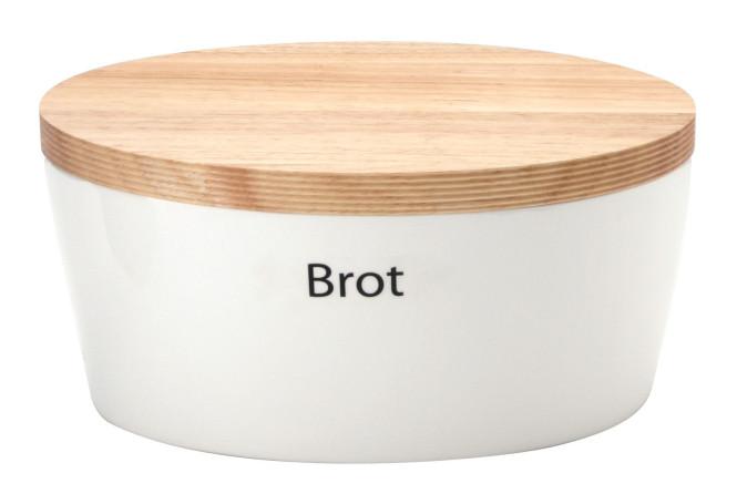 Continenta Brottopf, mit Holzdeckel, oval, Rückseite als Schneidebrett nutzbar, mit Belüftung, 27 x 20 x 13,5 cm 27 x 20 x 13,5 cm | Anzahl: 1 Stück
