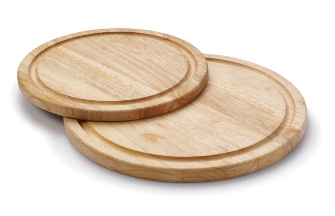 Continenta Steakteller aus Gummibaumholz mit einem Durchmesser von 30 x 1,8 cm