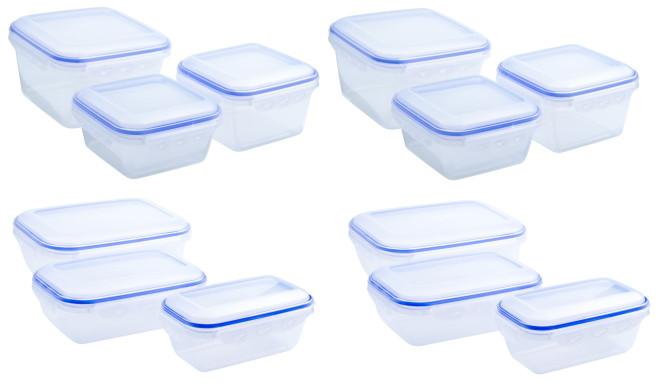 culinario 12er Set Frischhaltedosen, Aufbewahrungsdosen mit Silikondichtung und Klickverschlüssen