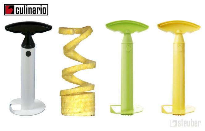 culinario Ananasschneider mit Kunststoffklinge, in verschiedenen Farben erhältlich