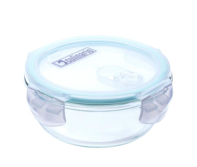 culinario Cloc Frischhaltedose aus Borosilikatglas, verschiedene Größen, rund, mit Mikrowellendeckel, bis 400°C hitzebeständig
