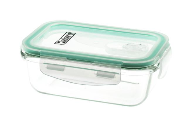 culinario Cloc Frischhaltedosen aus Borosilikatglas, geschmacksneutral, in verschiedenen Größen, mit praktischem Mikrowellen-Deckel