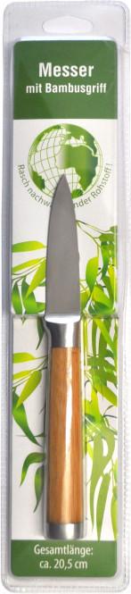 culinario Schälmesser Bambus, Edelstahlklinge, Bambusgriff