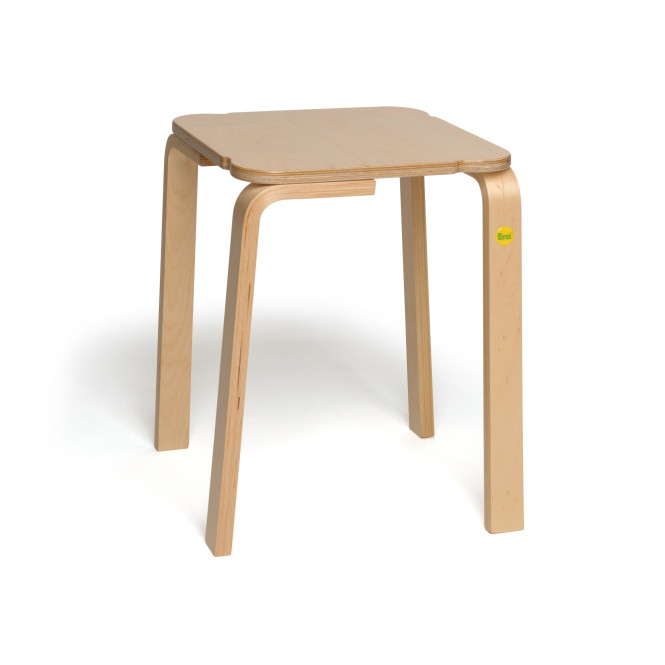 Erzi Hocker 48 aus Formholz, stabiler Hocker, stapelbar, max. Belastung bis 140 kg, Maße 36 x 36 x 48 cm