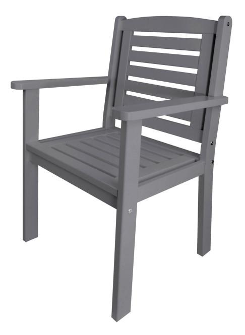 Esschert Design Gartenstuhl mit Armlehne aus Holz, ca. 63 cm x 56 cm x 96 cm, verschiedene Farben