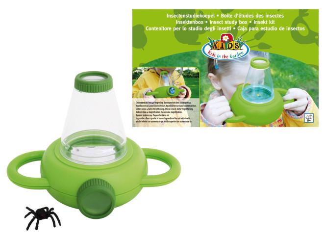 Esschert Design Insektenbeobachtungsbox für Kinder, Behälter mit Lupe zum beobachten von Insekten und Käfern