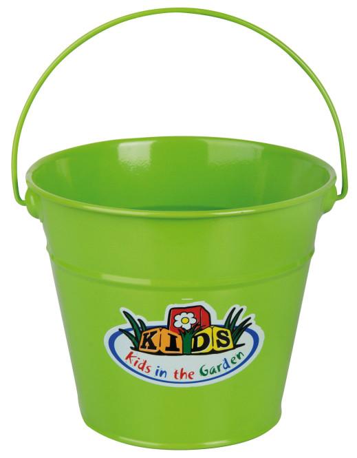 Esschert Design Kindereimer, Garteneimer für Kinder mit Henkel in grün, ca. 21 cm x 19 cm x 16 cm grün
