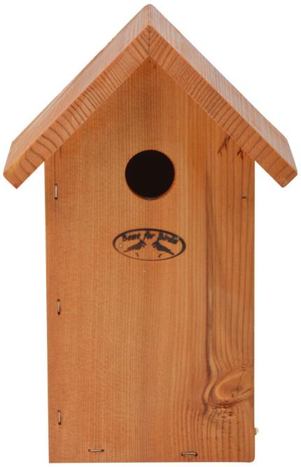 Esschert Design Nistkasten Blaumeise, 17,0 x 14,3 x 25,7 cm, Vogelhaus aus Douglasieholz, Vogelhäuschen, Nisthäuschen