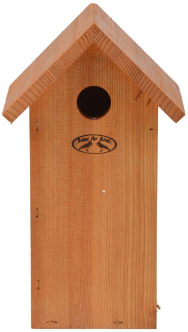 Esschert Design Nistkasten Kohlmeise, 17 x 14,3 x 30 cm, Vogelhaus aus Douglasieholz, Vogelhäuschen, Nisthäuschen