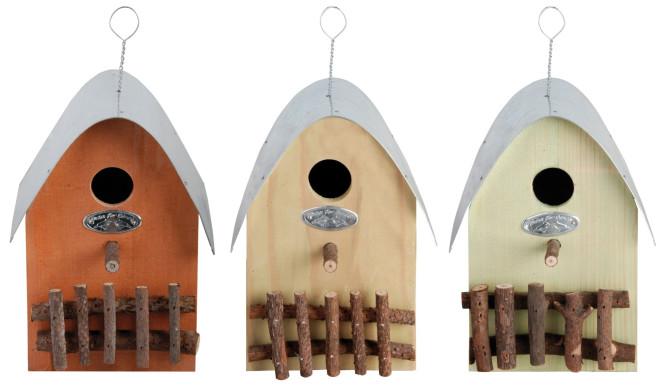 """Esschert Design Nistkasten, Vogelhaus """"Haus"""", 1 Stück, sortiert, ca. 15 cm x 22 cm x 20 cm Anzahl: 1 Stück"""