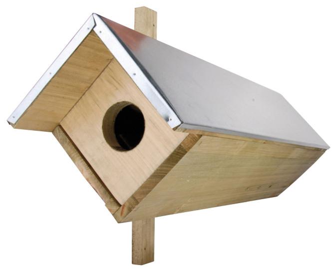 2 Stück Esschert Design Nistkasten für Steinkauz, je 81 x 31 x 52 cm, aus Holz Anzahl: 2 Stück