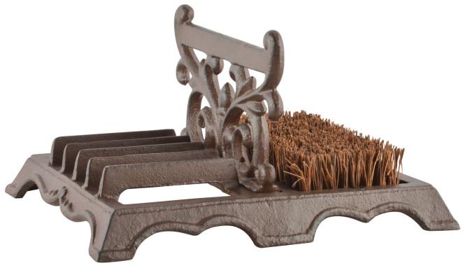 Esschert Design Schuhbürste mit Schaber, aus Gusseisen, 27 x 22 x 14 cm, mit Bürste, mit 5-fach Schaber, in edlem Design