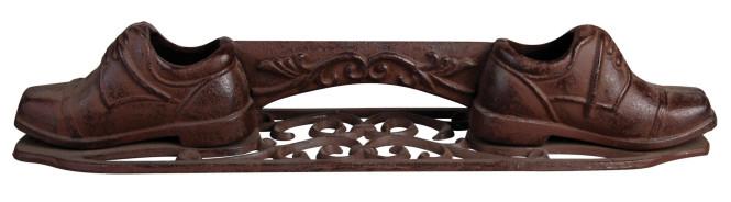 Esschert Design Schuhschaber, Schuhabstreifer Motiv Schuh aus Gusseisen, ca. 44 cm x 9,6 cm x 8,2 cm Anzahl: 1 Stück