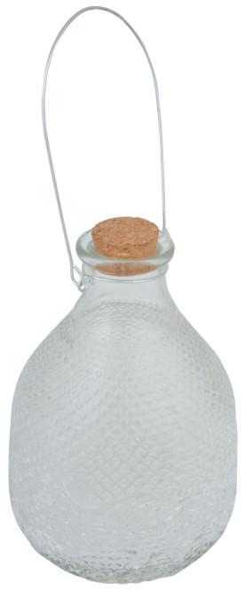 Esschert Design Vintage Wespenfalle mit Glas, 15 x 15 x 22 cm, Größe L, mit Drahtgriff