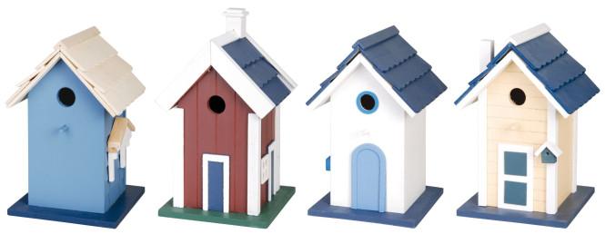 Esschert Design Vogelhaus, Nisthöhle Villa, 1 Stück, sortiert, ca. 18 cm x 17 cm x 27 cm Anzahl: 1 Stück