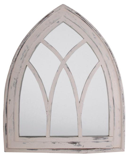 Esschert Design Wandspiegel, Garderobenspiegel im Gothic Stil, ca. 66 cm x 80 cm, verschiedene Farben