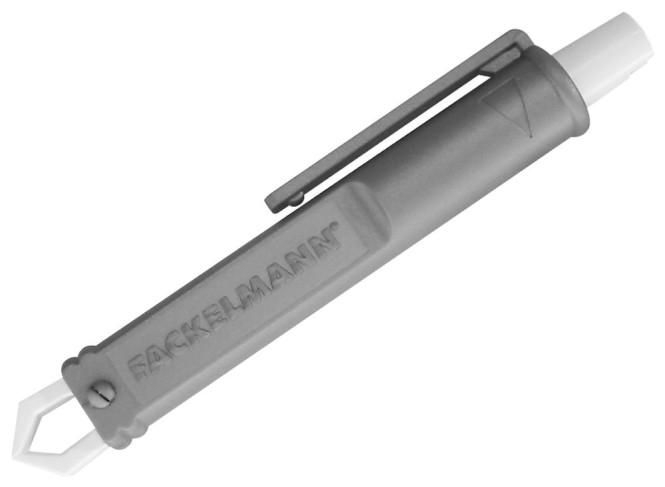 Fackelmann Zeckenzange aus Kunststoff, 9 cm, in grau