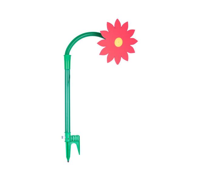 FloraSun Funflower Spritzblume mit spitzen Blättern, rot - die lustige Gartenblume, Sprinkler Blume zur Gartenbewässerung, Gartendusche rot | Anzahl: 1 Stück