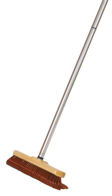 FloraSun Haushalts-Krallenbesen mit Teleskopstiel, 28 cm
