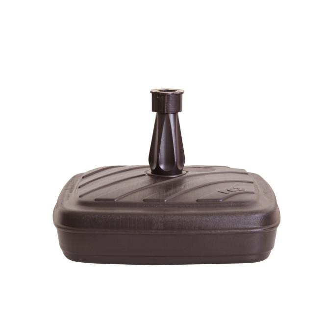 Greemotion Schirmständer aus Kunststoff, 42 x 42 x 25 cm, befüllbar mit 14 L Wasser/Sand, Rohr Ø 18 - 32 cm, in anthrazit