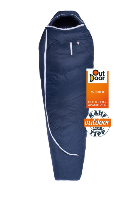 Grüezi bag Biopod DownWool Ice 200 Ice Winter-Schlafsack Winter/Herbst, 230x850cm, bis Körpergröße 200cm, Tkomf -1°C/Tlim -8°C, Packmaß Ø 24 x 26 cm